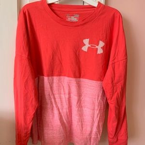 Pink long sleeve under armour top